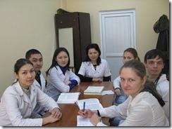 Рабочий момент в учебной комнате (ассистент Мусаева Г.А)