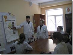 Знание механизма возникновения заболевания – важное условие понимания патологии (студент 5 курса Абуов Т.,  ассистент Нукутова Б.Т).
