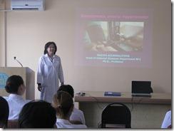 Лекцию читает зав. кафедрой внутренних болезней №2, д.м.н., профессор Айдаргалиева Н.Е